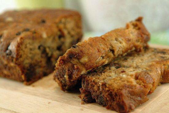 No sugar, no butter, no flour, Vegan banana Choc chip bread