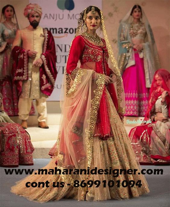Designer Boutiques In Jalandhar Punjab India Maharani Designer Boutique Indian Bridal Wear Red Indian Wedding Fashion Indian Bridal