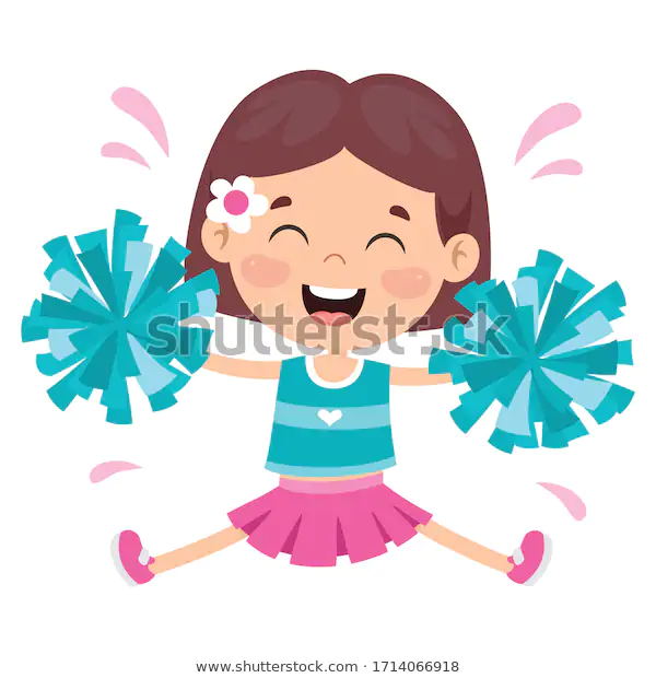 Find Funny Cheerleader Holding Colorful Pom Poms Stock Images In Hd And Millions Of Other Royalty Free Stock Photos Funny Cheerleader Cheerleading Royalty Free