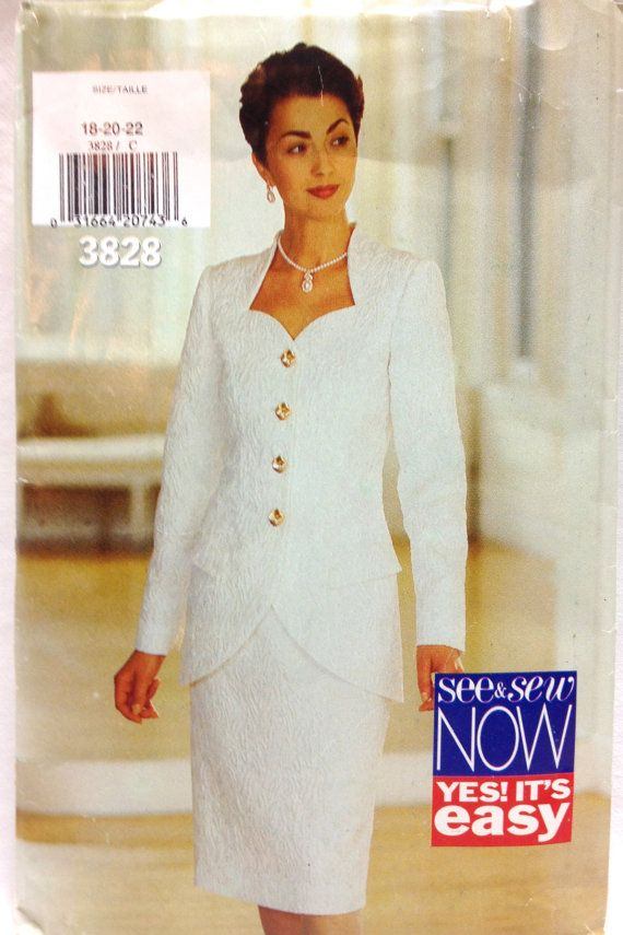 e8c62739ca2 Out of print Plus Size Womens Suit Sewing Pattern For Business or Formal