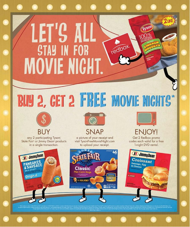 Host a Free Winter Movie Night with Tyson Foods & Redbox at Walmart #TysonFreeMovieNight #ad
