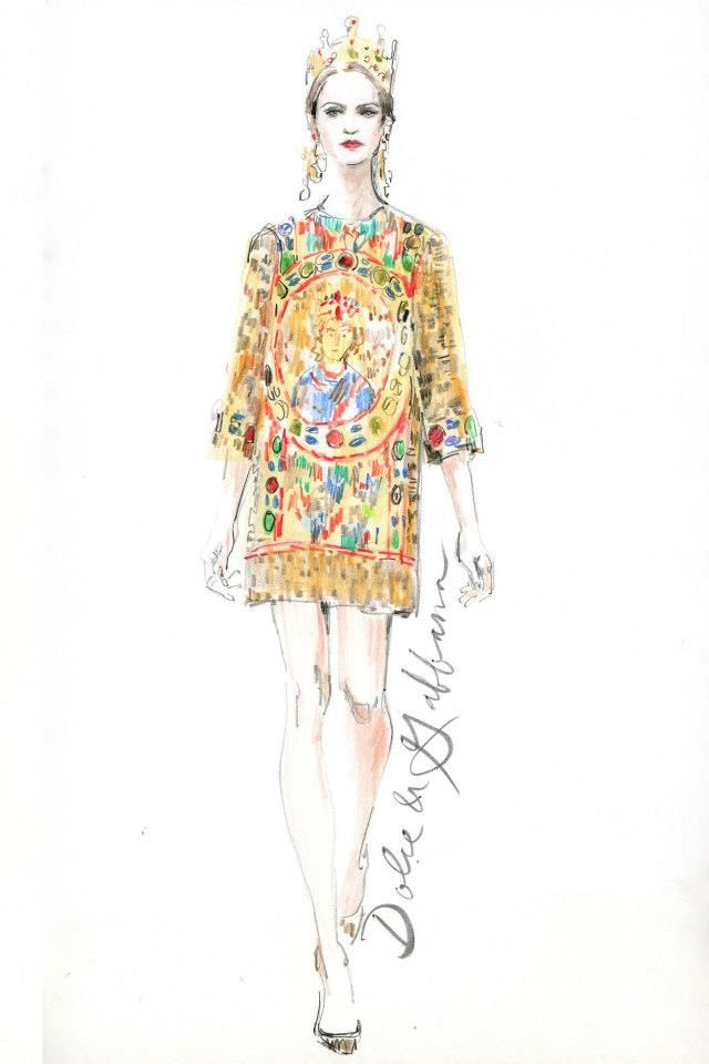 dolce and gabbana fashion illustration design fashion