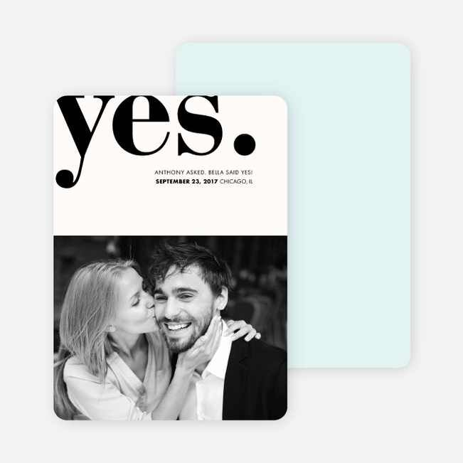 Boldly Typographic Wedding Save the Date Cards