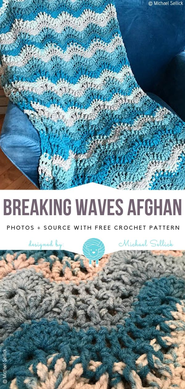 Stylish Crochet Waves Free Patterns #afghanpatterns