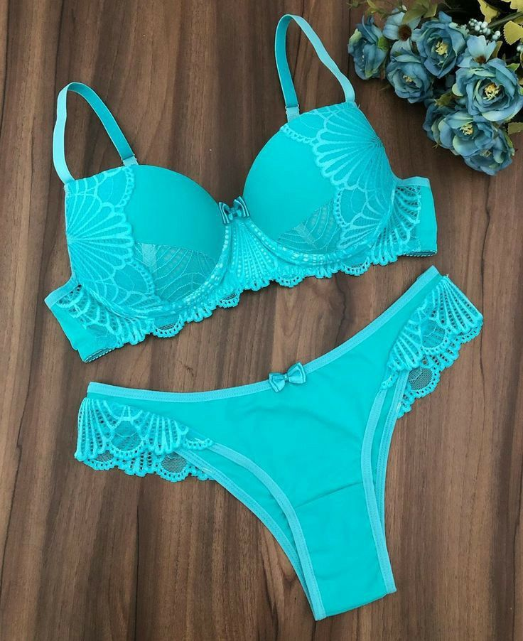 женское кружевное белье синее