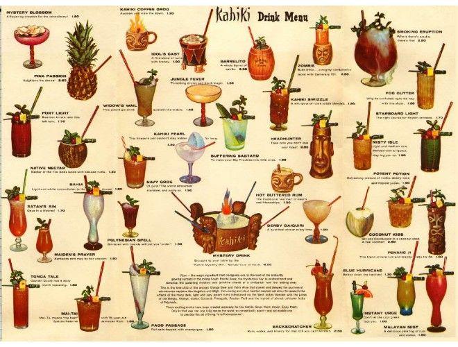 Kahiki drink menu