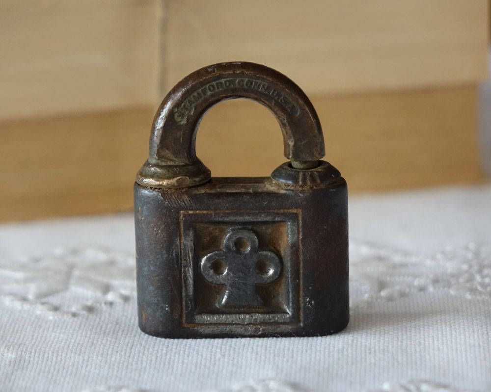 Lock Lock Usa antique brass yale lock made in usa vintage lock by the1608shop