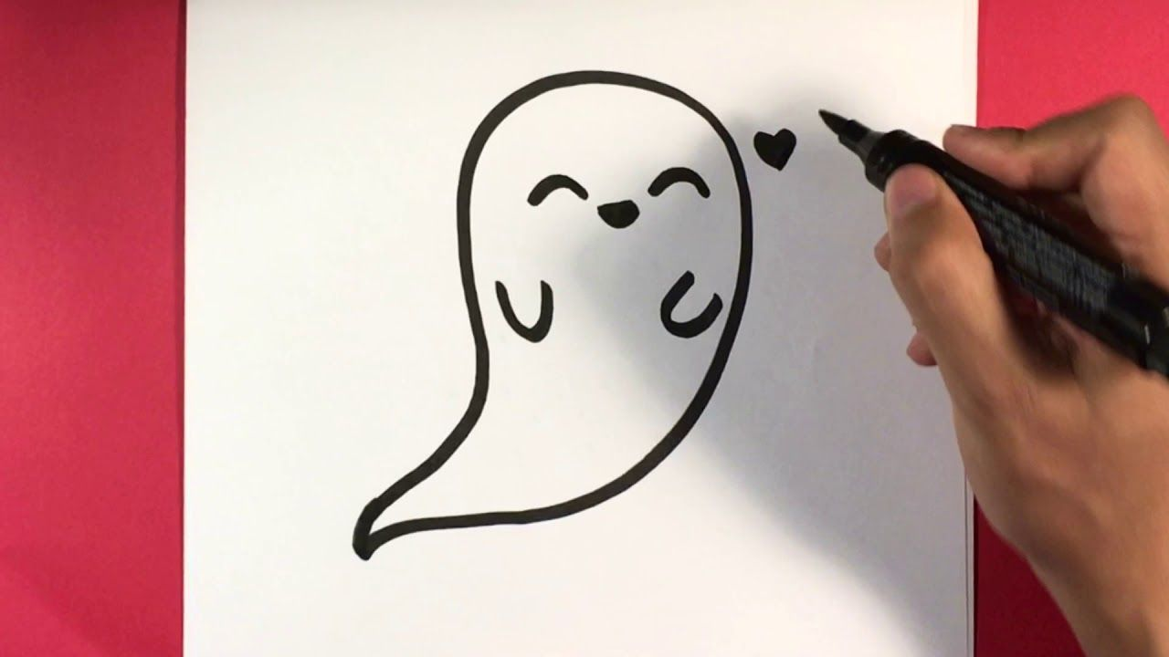 How to Draw a Ghost , Halloween Drawings Easy in 2019