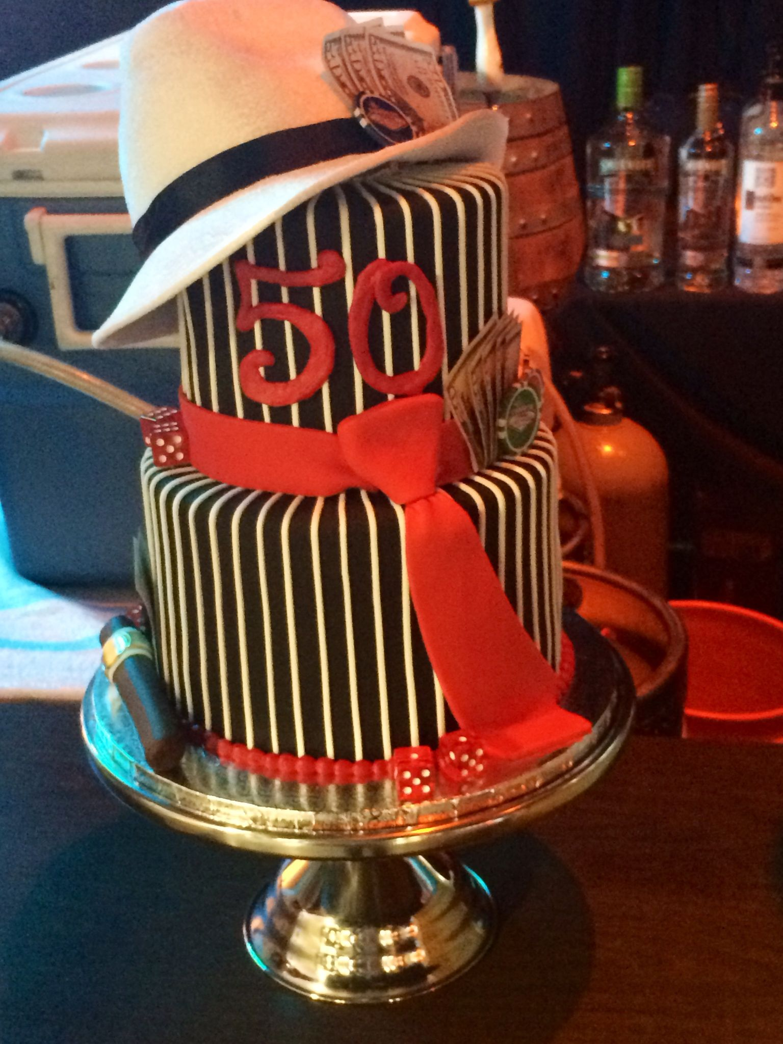50th Birthday Cake Gangster Style At Astor Classics Event