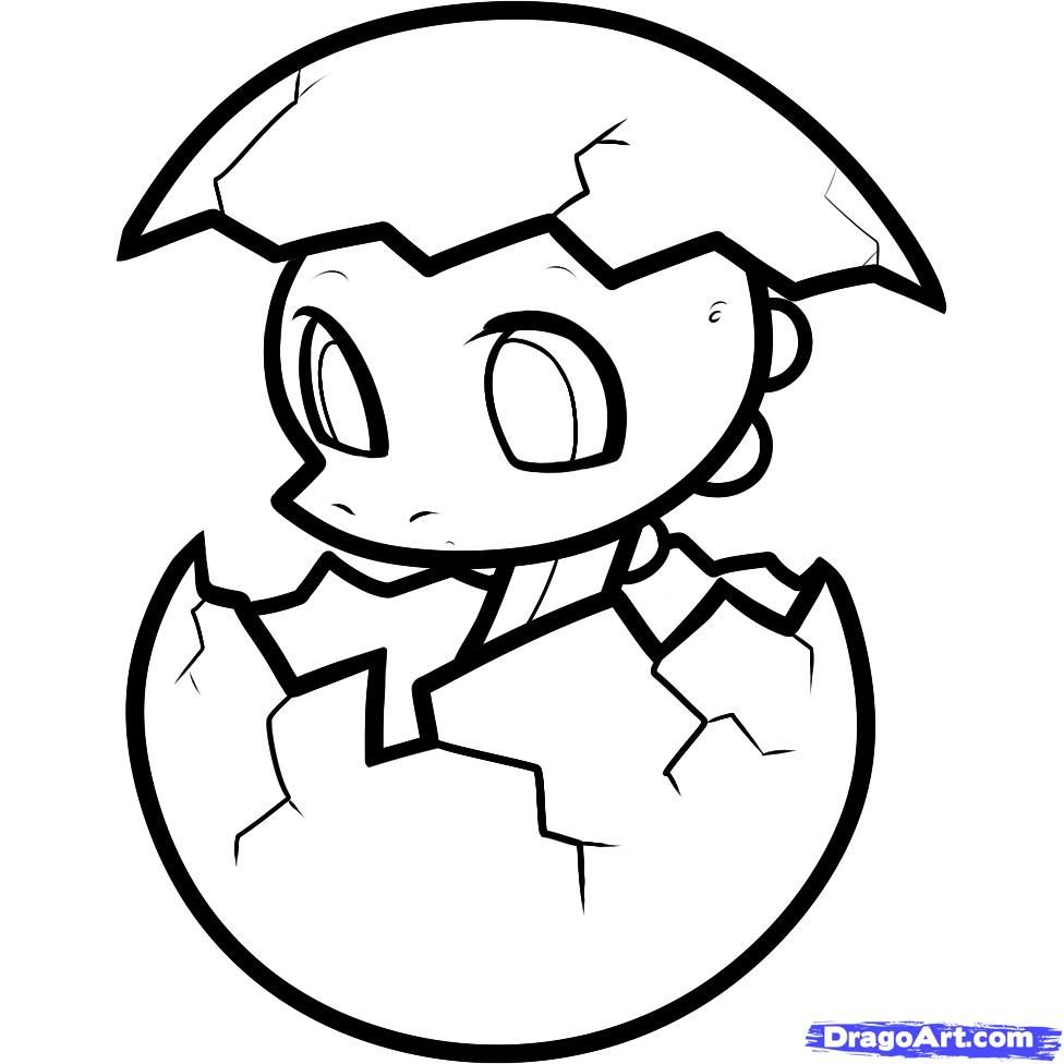 step 7 - Cute Baby Dinosaur Coloring Pages