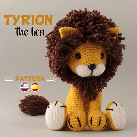 Lion Crochet PATTERN Amigurumi patterns pdf tutorial - TYRION the lion #amigurumipatterns