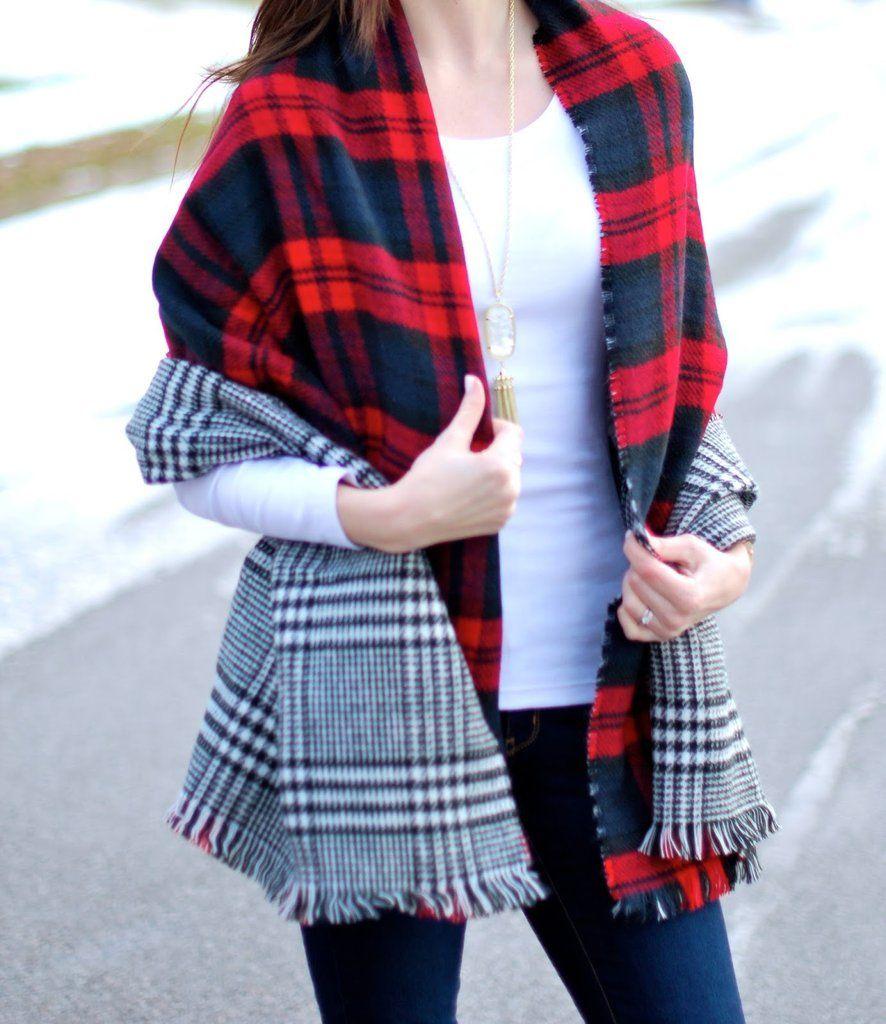 8c31f11573d57 Reversible Double Sided Blanket Scarf | Guest Pinner ◊ Jess Lea ...