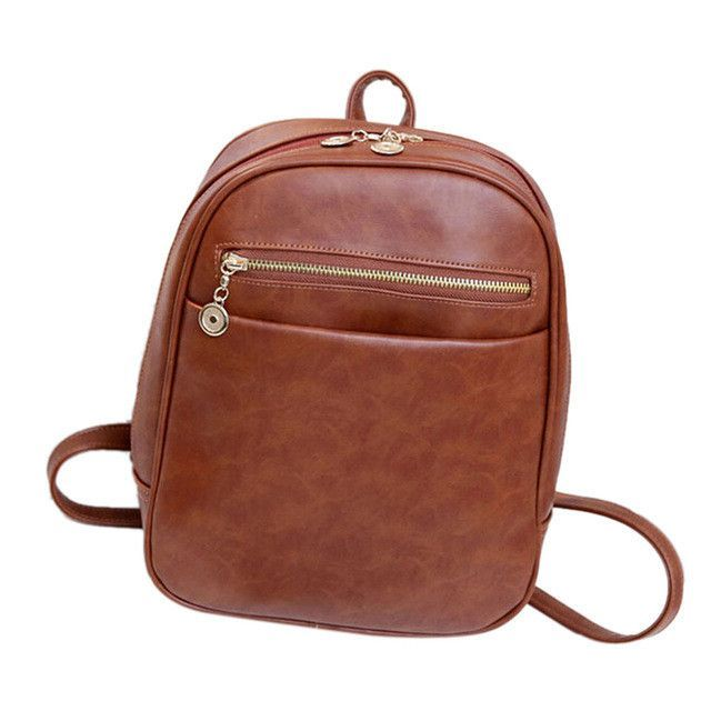 Fashion leather Backpacks Women Travel School Bag