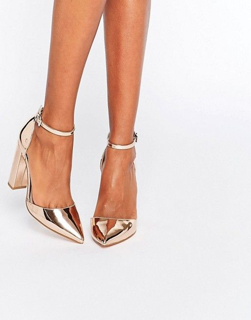 ASOS gold heel :: | :: SHOES :: in 2019 | Shoes, Fashion