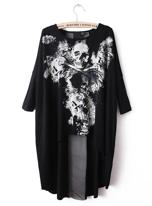Irregular Skull Print Shirt$39. Super valuable weekly package, enjoy special combo price here: http://www.udobuy.com/combination_package.php
