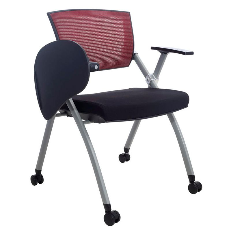 Multifunctional Simple Office Chair Staff Conference Meeting Training Chairs  With Writing Board Portable Folding Computer Chair