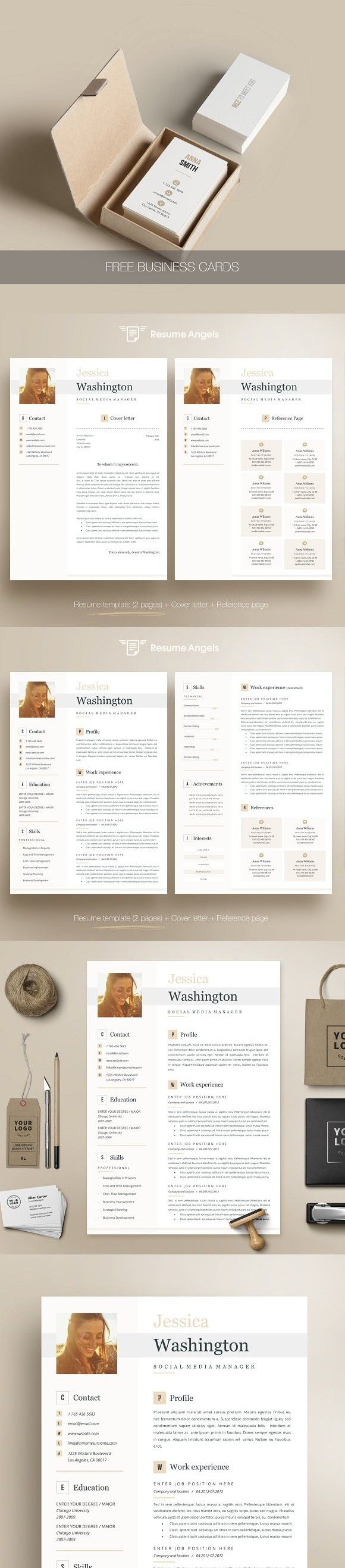 Resume Template 4 page Jessica Resume, Templates