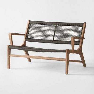 Find Product Information Ratings And Reviews For Oceans Wood Rope Patio Loveseat Project 62 Online On Target
