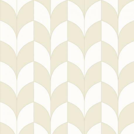 Papier peint intissé PARADOXE blanc, beige – Belle Epoque Casadeco