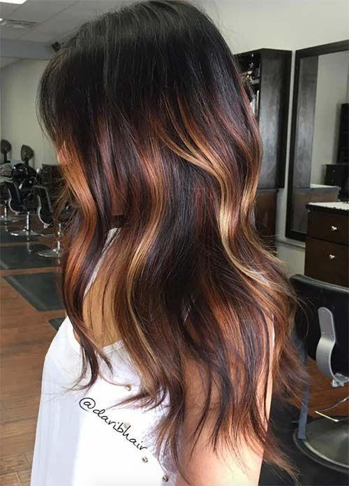 Couleur cheveux tendance caramel