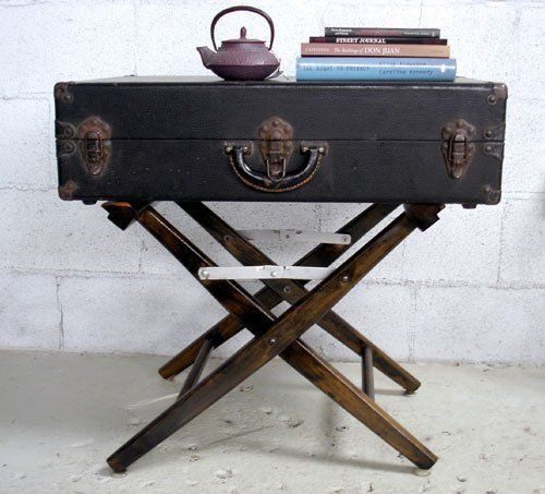 25 Incredible Ideas To Upcycle An Old Suitcase Almost Effortlessly||use  Camp Stool For