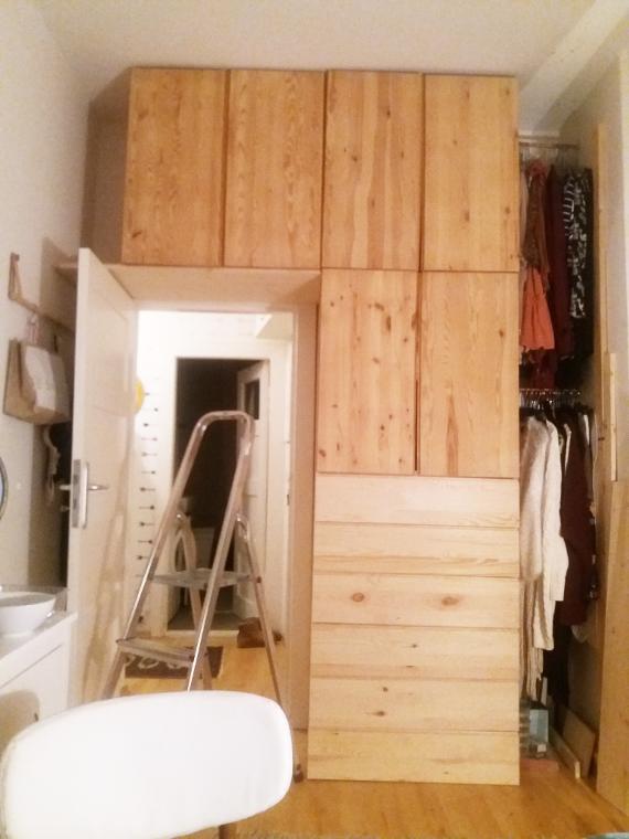 Diy Ikea Hack Kleiderschrank Aus Hellem Holz