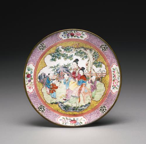 A CANTON ENAMEL'BOYS' DISH<br>QING DYNASTY, 19TH CENTURY | Sotheby's