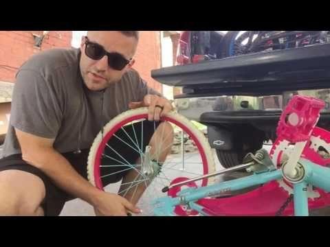 How To Change A Kids 20 Inch Bike Tire Inner Tube Youtube