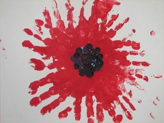 House Of Baby Piranha Anzac Day Handprint Poppy Flower Ideas