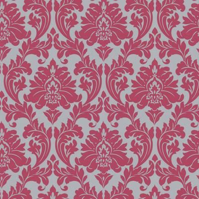 Superfresco Easy Majestic Hot Pink Silver Damask 30 418 Home Depot Canada For Hs Room