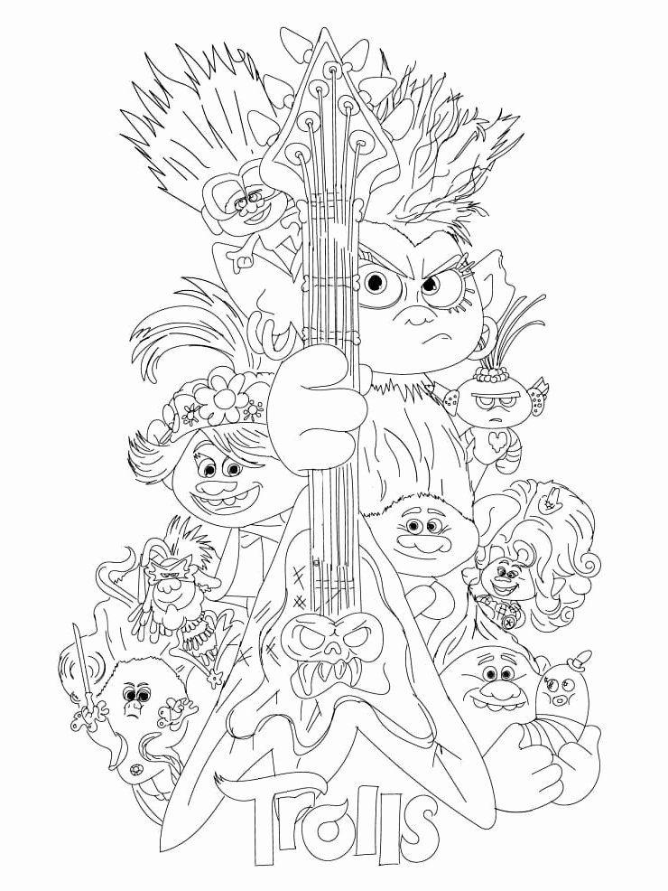 Christmas Trolls Coloring Page Beautiful Wonder Day Trolls Free Printable Coloring Pages Love Coloring Pages Cute Coloring Pages Coloring Pages