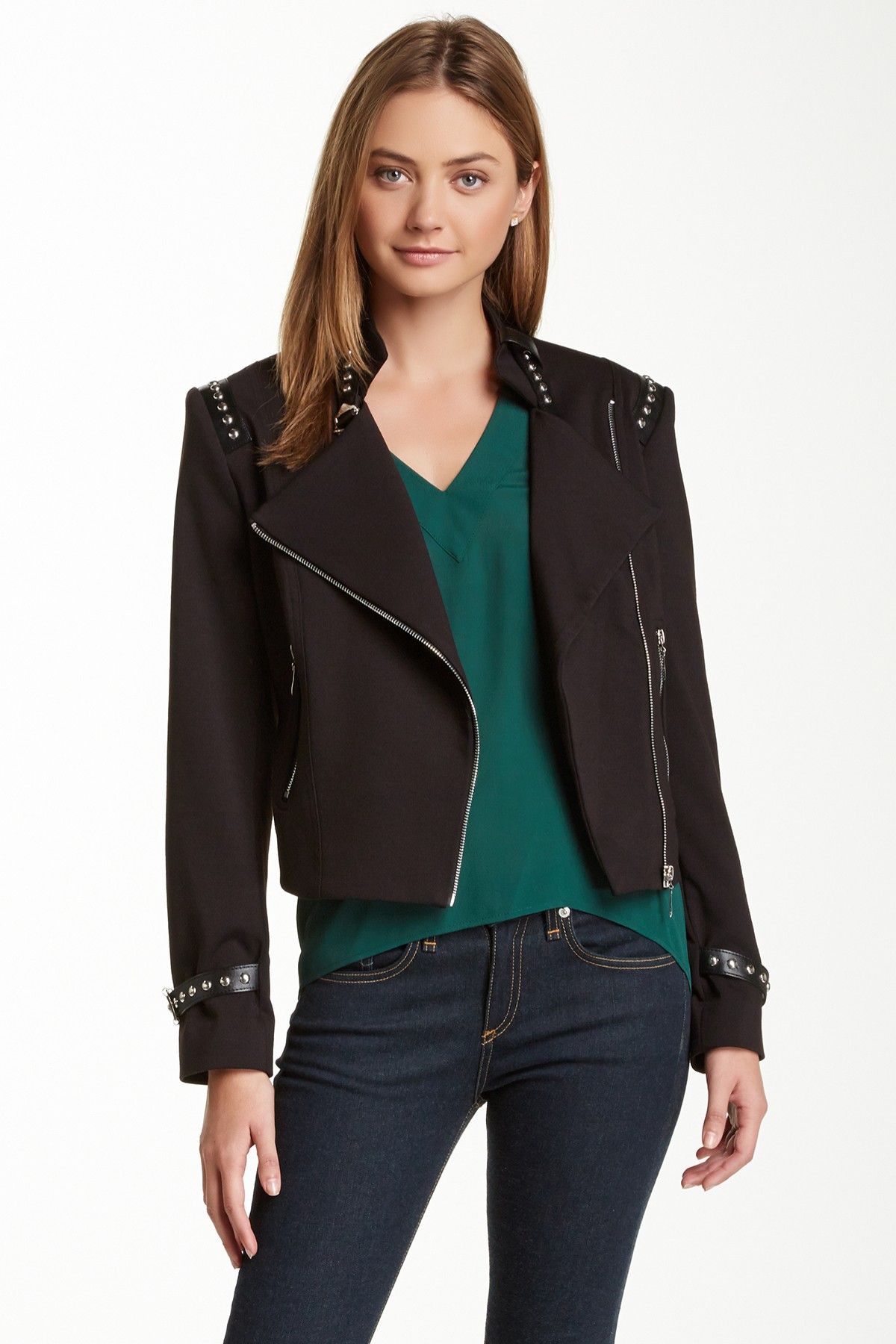 Insight Buckle and Stud Jacket Studded jacket, Clothes