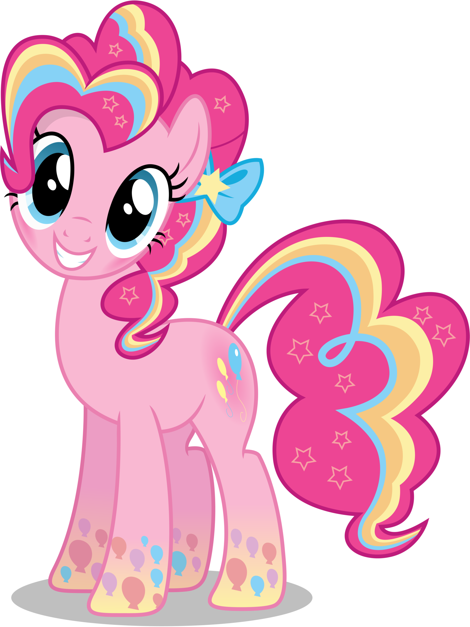 Pinkie Pie - Rainbowfied from Group Shot by CaliAzian ...