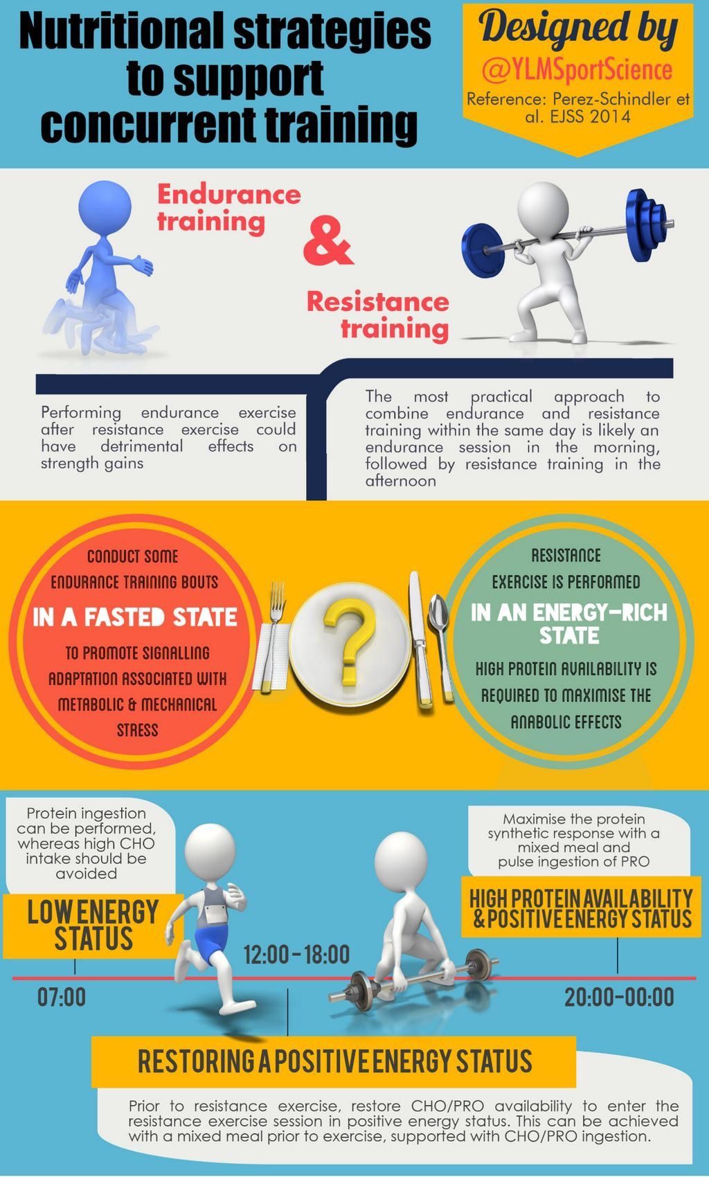 Nutritional strategies during concurrent training.