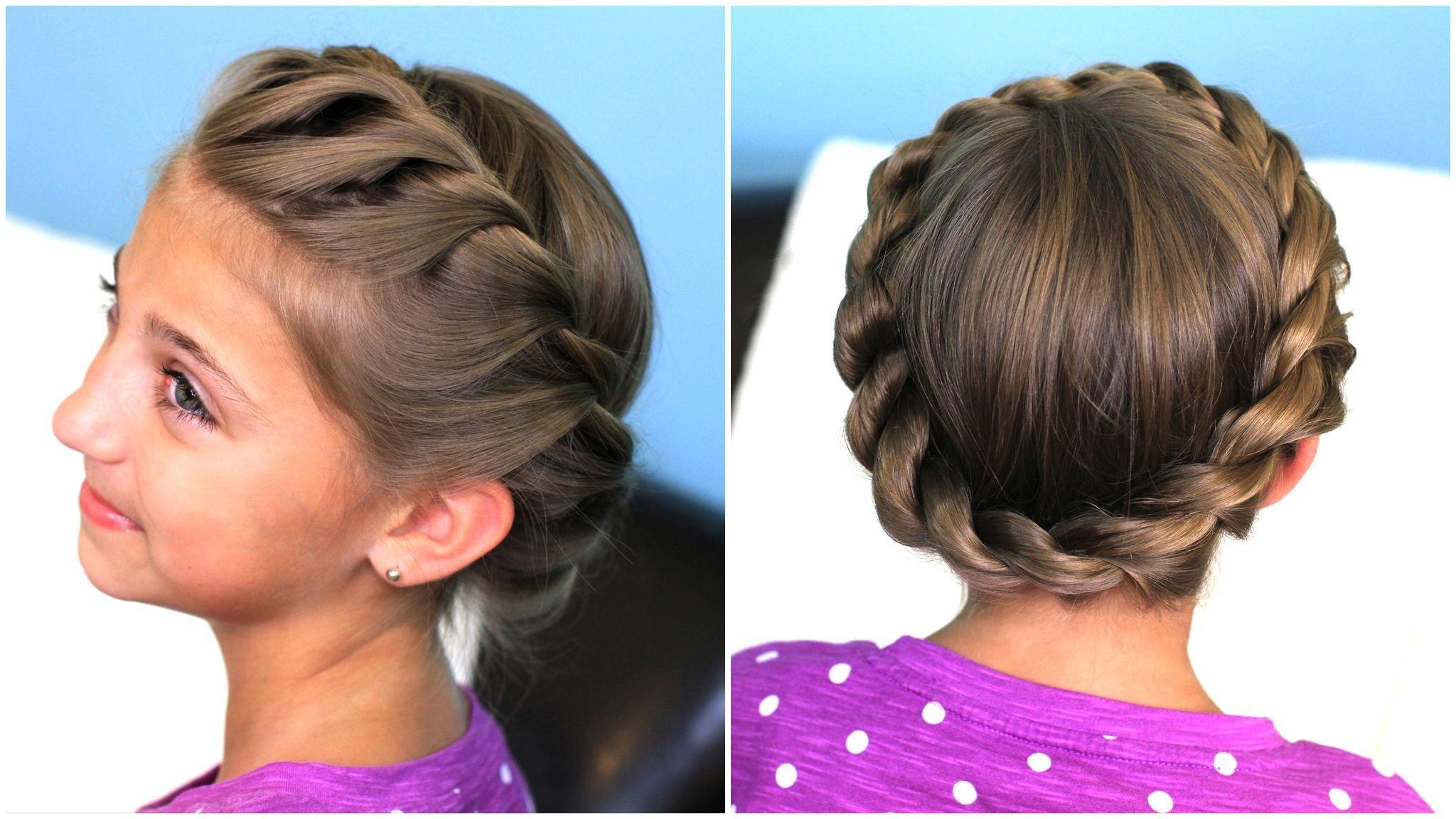 Crown rope twist braid updo hairstyles braid crown hairstyles