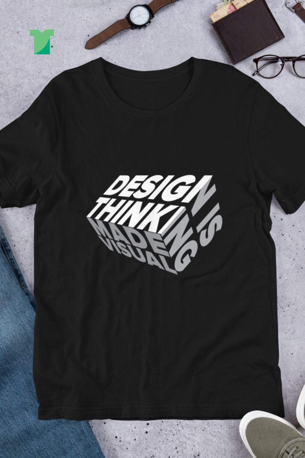 Design is Thinking made Visual Unisex Premium TShirt