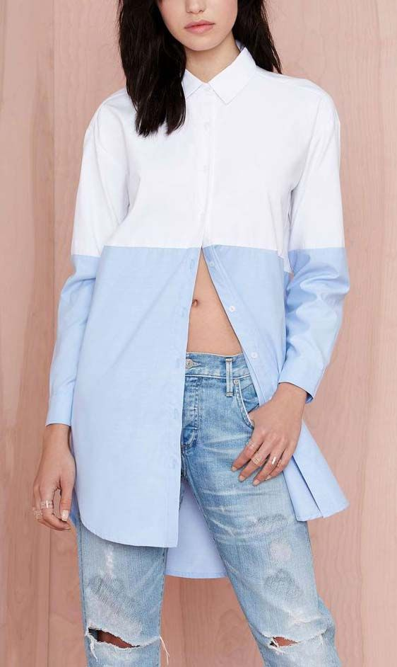 Nasty Gal Block It Shirtdress