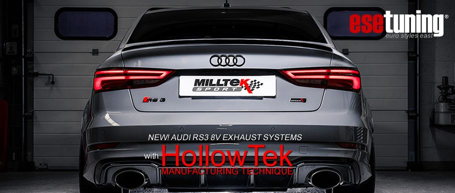 Milltek Catback Exhaust for Audi RS3 8V (Non-Resonated) (Polished