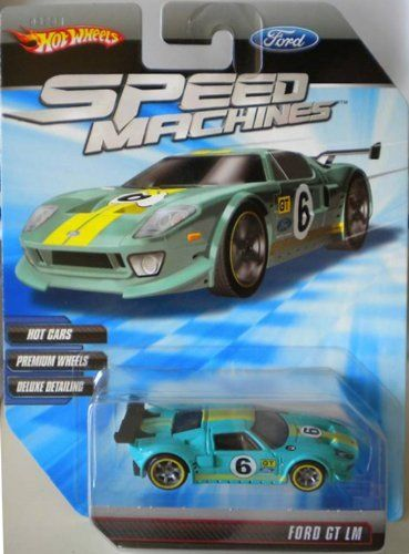Hot Wheels Speed Machines Ford Gt Lm Light Blue 1 64 Scale By