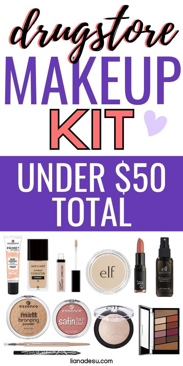 Full Face of Drugstore Makeup Kit Under 50 (With images