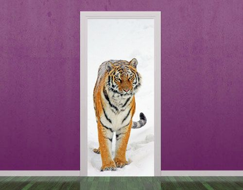 Tiger door decoration in vinyl & Tiger door decoration in vinyl | For the Home | Pinterest ...