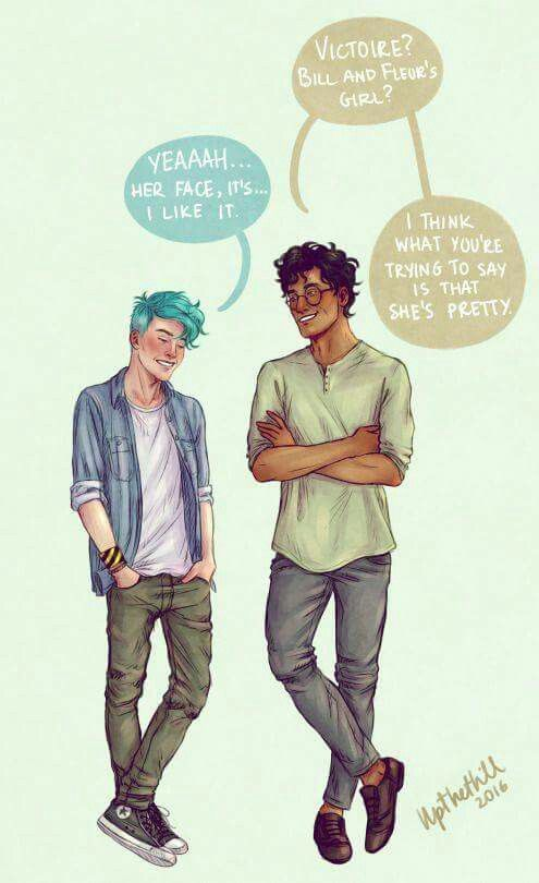 Harry gives Teddy a talk about Victoire | Harry Potter ...