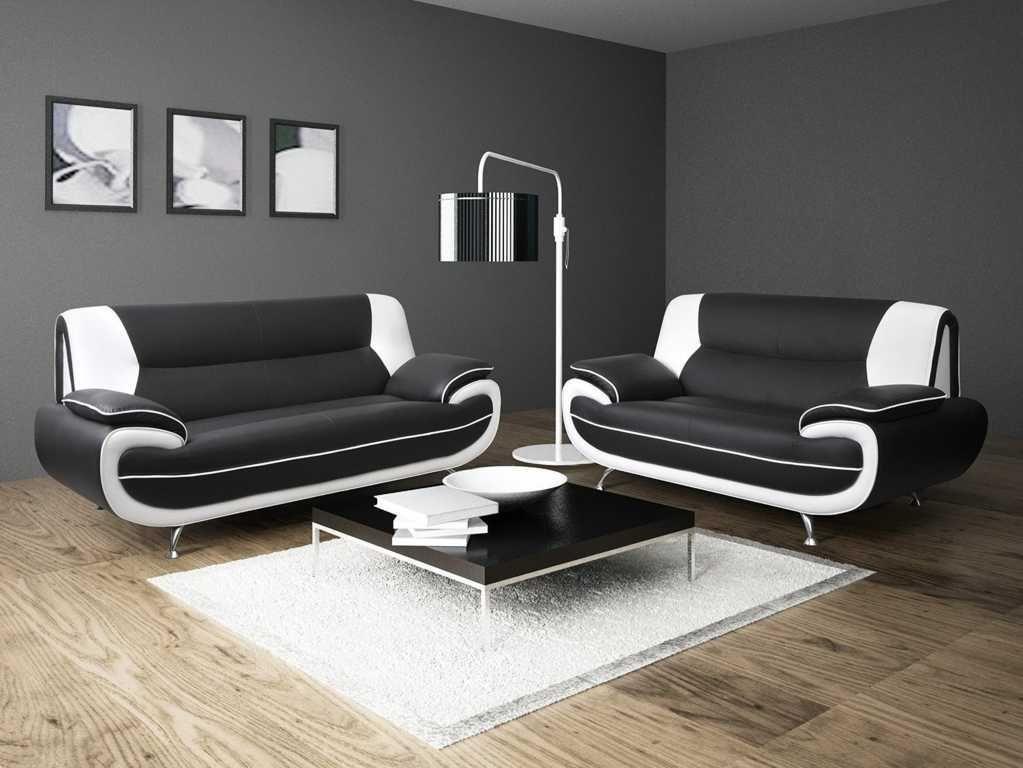 Model Sofa Ruang Tamu Hitam Putih Interior Sofas