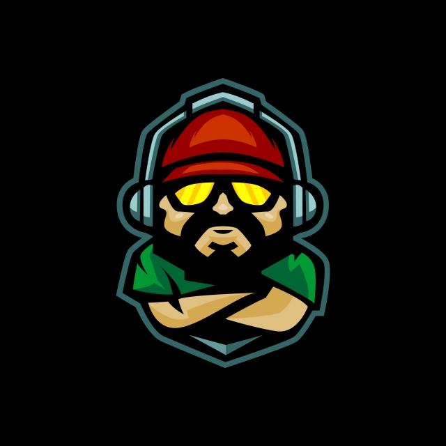 Pro Gamer Mascot Logo Design di 2020