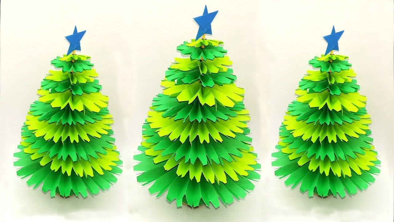 Awesome Ideas Make A Wonderful Christmas Tree How To Make Paper Tree F Christmas Paper Paper Tree Diy Crafts For Gifts
