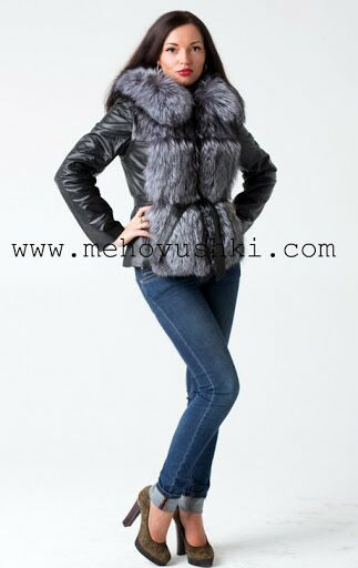 Женская кожаная куртка с мехом Цена со скидкой 18 000 Размер 40 2ec7be58123f2