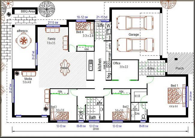 Newhome Design Bedroom House Plans 4 Bedroom House Plans Floor Plan 4 Bedroom