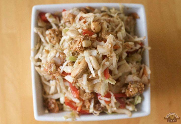 Thailändischer Krautsalat   Ein würziges thailändisches Krautsalatrezept   Thailändischer Erdnuss-Kohlsalat -