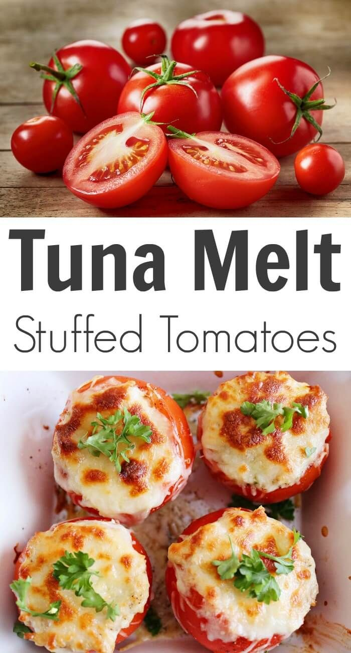 For comfort food that also has some nutritional value, try this Tuna Melt Stuffed Tomatoes recipe!