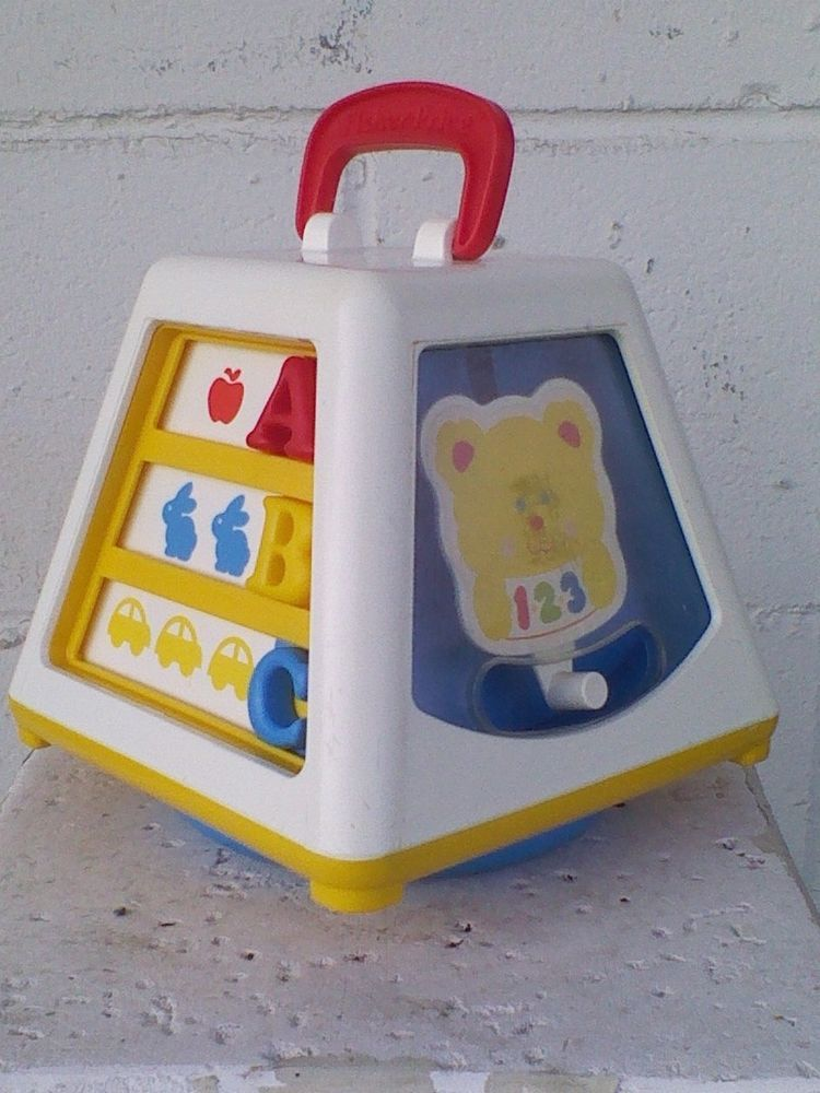 Vintage Fisher Price Turn And Learn Baby Activity Center